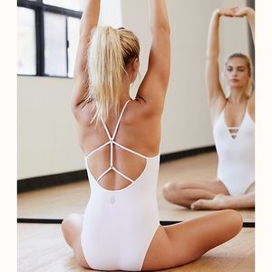 Free People Dance All Day Bodysuit- White